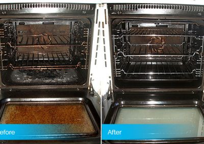 Before and After Oven Clean